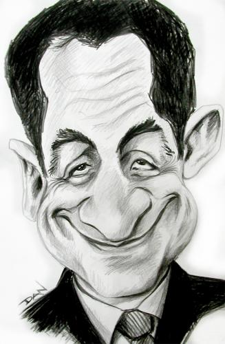Cartoon: Caricature of Sarkozy (medium) by Dan tagged caricature,cartoon,picasso,president,dan,famous,face,france,french,politic,political