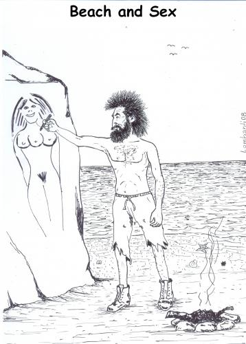 Cartoon: beach and sex (medium) by paolo lombardi tagged beach,summer,