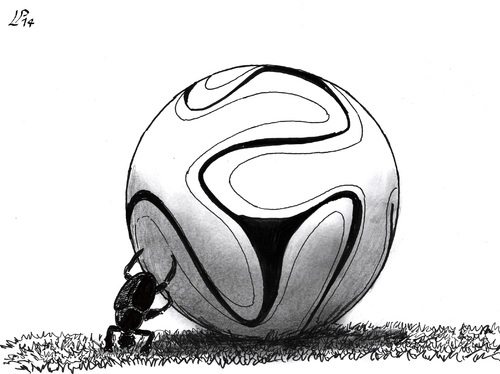Cartoon: Italian World Cup 2014 (medium) by paolo lombardi tagged football,world,cup