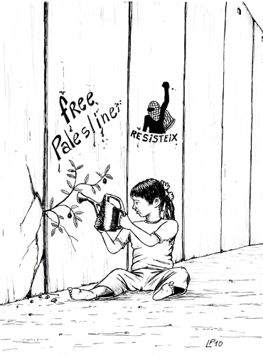 Cartoon: March 8 (medium) by paolo lombardi tagged palestine,march8,peace,politics