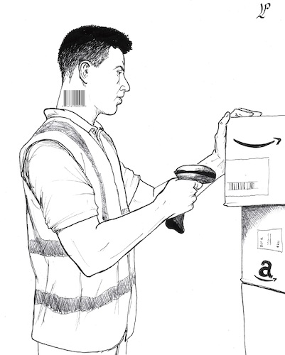 Cartoon: Modern Slavery (medium) by paolo lombardi tagged amazon