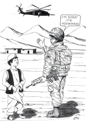 Cartoon: Operation Moshatarak (medium) by paolo lombardi tagged war,afghanistan