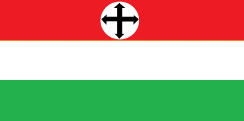 Cartoon: New Hungarian flag (medium) by paolo lombardi tagged hungary,dictator,politics,fascism,europe