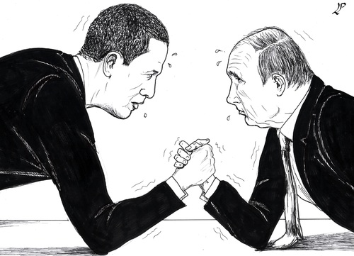 Cartoon: Over The Top (medium) by paolo lombardi tagged syria,russia,usa,war,peace