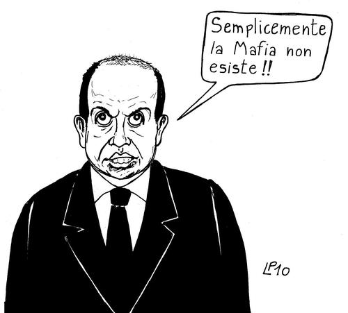Cartoon: Referente (medium) by paolo lombardi tagged italy,mafia,berlusconi,politics