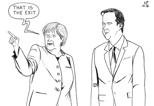 Cartoon: Swift Exit (medium) by paolo lombardi tagged brexit