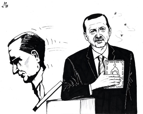 Cartoon: The Winner (medium) by paolo lombardi tagged turkey,elections
