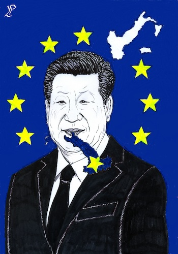 Cartoon: Xi Jinping in Italy (medium) by paolo lombardi tagged italy,europe,china