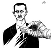 Cartoon: Ali Ferzat Cartoon (small) by paolo lombardi tagged syria,assad,revolution,satire,freedom