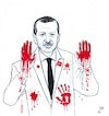 Cartoon: Blood of Afrin (small) by paolo lombardi tagged erdogan,turkey,war