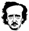 Cartoon: E. A. Poe (small) by paolo lombardi tagged poete