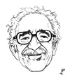 Cartoon: Gabriel Garcia Marquez (small) by paolo lombardi tagged artists
