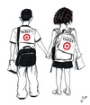 Cartoon: Gaza children at school (small) by paolo lombardi tagged gaza,war,peace