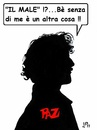 Cartoon: il Male (small) by paolo lombardi tagged satire,italy