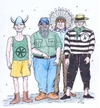 Cartoon: Italians Village People (small) by paolo lombardi tagged italy,satire,politics,berlusconi,leganord