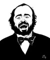 Cartoon: Luciano Pavarotti (small) by paolo lombardi tagged italy,cartoon,caricature