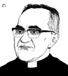 Cartoon: Oscar Romero Saint Now (small) by paolo lombardi tagged sudamerica,salvador