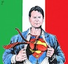Cartoon: Super Conte (small) by paolo lombardi tagged coronavirus,italy,europe