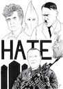 Cartoon: The face of hate (small) by paolo lombardi tagged newzealand,terrorism,fascism,racism,hate