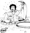 Cartoon: the Rat (small) by paolo lombardi tagged libya,gaddafi,war,krieg,peace