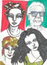 Cartoon: faces and faces (small) by novak and nemo tagged marker,boy,girl,wonder,elderly,youth