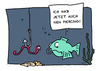 Cartoon: Piercing (small) by Mergel tagged piercing,trend,mode,fisch,wurm,selbstverstümmelung