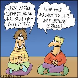 Cartoon: Drittes Auge (medium) by fussel tagged meditation,erleuchtung