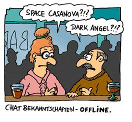 Cartoon: Spacecasanova (medium) by fussel tagged beziehung,identity,virtual,dating,chat