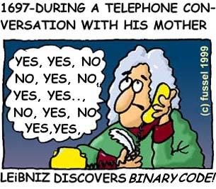Cartoon: The unknown mother of Leibniz (medium) by fussel tagged leibniz,telephone,communication