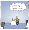 Cartoon: Ein Klassiker (small) by fussel tagged haar,suppe,kellnerwitz,schackalackaschokolade