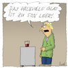 Cartoon: So gesehen (small) by fussel tagged fussel,cartoon,positiv,denken,halbvoll,halbleer,glas,leer,voll,negativ