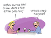 Cartoon: Vorher oder nachher? (small) by fussel tagged fussel,facebook,essen,posten,foto,like,social,media,smartphone