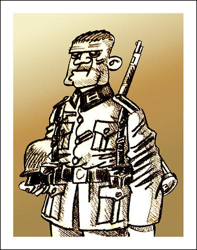 Cartoon: HERMANITO (medium) by PEPE GONZALEZ tagged wwii,german,aleman,hassel,sven,germany,soldier