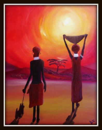 Cartoon Sunset medium by Krinisty tagged tribalafricanarthot