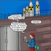 Cartoon: Cybersecurity (small) by Fenya tagged cartoon,comic,cybersecurity,cybersicherheit,english,obama,password,passwort,sicherheit,security,raketen,rockets