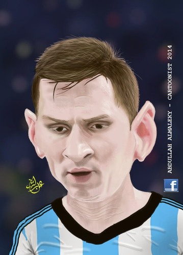 Messi By Abdullah Famous People Cartoon Toonpool