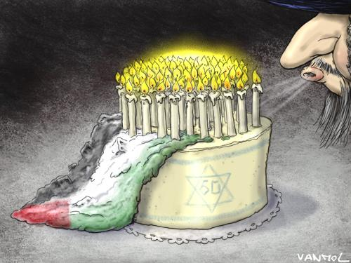 Cartoon: 60 years of Israel (medium) by Vanmol tagged israel