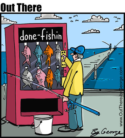 done fishing By George | Media & Culture Cartoon | TOONPOOL