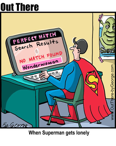 Cartoon: online dating (medium) by George tagged online,dating