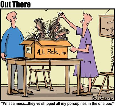 Cartoon: www.outthere-bygeorge.com (medium) by George tagged porcupine