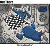 Cartoon: Checkers in Space (small) by George tagged checkers,in,space