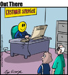 Cartoon: customer service (small) by George tagged customer,service