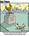 Cartoon: why did the chicken x the road (small) by George tagged why,did,the,chicken,road