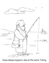 Cartoon: Jesus fishing (small) by Joebrowntoons tagged fishingcartoon,jesus,jesuscartoon,biblecartoon,bible,fish,pastorpete,pastor,church,relaxation,relaxing,sport,hobby