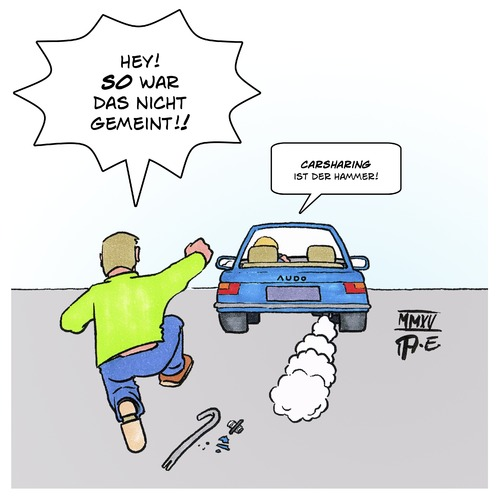 Carsharing By Timo Essner Media Culture Cartoon Toonpool