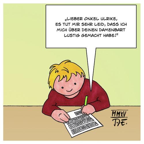 Kinderbriefe Schreiben : Damenbart by timo essner love cartoon toonpool