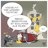 Cartoon: Brandanschlag auf Feuerwehr (small) by Timo Essner tagged corona,covid19,coronaparty,anschlag,rki,robert,koch,institut,brandanschlag,feuerwehr,großbrand,rettungskräfte,feuer,pandemie,cartoon,timo,essner