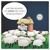 Cartoon: Lauter Schafe (small) by Timo Essner tagged schaf,schafherde,einschlafen,schlaf,deich,haus,nacht,schafe,zählen,cartoon,timo,essner