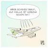 Cartoon: Malle-Urlaub (small) by Timo Essner tagged covid19,corona,pandemie,spanien,mallorca,mutationen,mutanten,party,urlaub,malle,sorglosigkeit,tanz,auf,dem,vulkan,flugreisen,cartoon,timo,essner