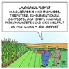 Cartoon: Monokultur (small) by Timo Essner tagged monokultur,landwirtschaft,gentechnik,genpflanzen,genmais,testfelder,chemie,dünger,düngemittel,pestizide,insektizide,glyphosat,natur,biologische,vielfalt,bienen,insekten,flora,fauna,personal,personalkosten,intensive,bodennutzung,cartoon,timo,essner